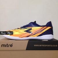 Harga Termurah Sepatu Futsal Mitre Flare IN Navy Hex Orange T01040014