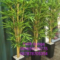 pohon bambu plastik/pohon hias/bunga plastik