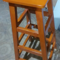 Bangku Tinggi 100 CM Kayu Jati Belanda Handmade Kokoh High Quality