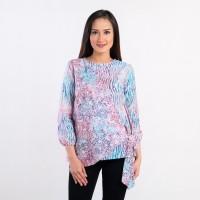 Batik Pria Tampan - Blouse Cross Tied Natuna Spa Graphics Comb - Merah Muda, M