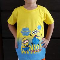Baju kaos atasan anak minion size S - XL