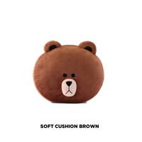 Soft cushion brown boneka bantal [OFFICIAL LINE ORIGINAL 100%]