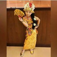 Pakaian adat bali penari baju untuk anak perempuan