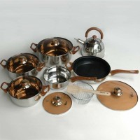 Cooking set Oxone OX-933 Panci Presto Ceret Stainless Steel 12 + 2 pcs