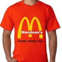kaos/baju/t-shirt mendoan dagelan meme