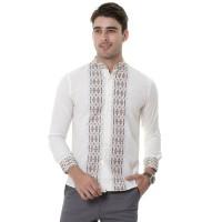 VM Baju Koko Putih Kemeja Muslim Tangan Panjang Slimfit - Ivory, M