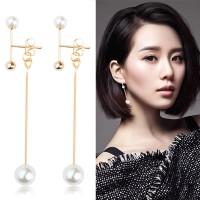anting panjang fashion mutiara aksesoris fashion korea earrings jan131