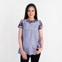 Batik Pria Tampan - Blouse Sunny Prang Bakat Lurik Comb - Ungu, S