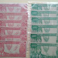 uang kuno 1000 soekarno melengkung 1964
