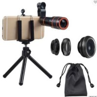Apexel Camera Lens Set 12X Zoom 4 In 1 Smartphones Camera Lens Tripod