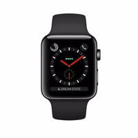 Apple watch series 3 42mm GPS+cell stainless steel with black
