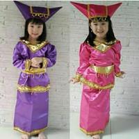 Pakaian adat anak baju padang - sumatra Lk/Pr - Merah, S CEWE