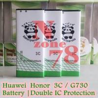 Baterai Huawei HONOR 3C G730 HB4742A0RBW RBW Rakkipanda Double Power