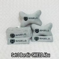 Set headrest bantal kepala jok leher mobil transformer shield abu 3