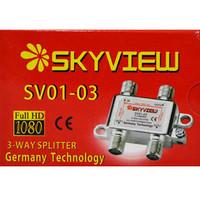 Splitter Skyview 3 Way 1 antena Pararel untuk 3Tv