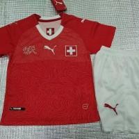 Termurah Jersey Baju Kaos Swiss Home Kids Anak Kecil Piala Dunia 2018