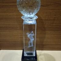 p54 Plakat kristal / Trophy Crystal kaca / Piala Golf / Piala Dunia