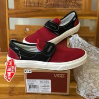 Sepatu Vans Vault Slip On 47 x Fear Of God Black Red - Premium Quality