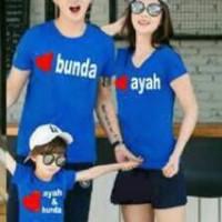 Baju Family Couple Kaos Pasangan Keluarga 1 Anak 11104 Ayah Bunda