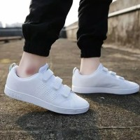 Sepatu Adidas Neo Advantage Velcro Cleans White List Green Original