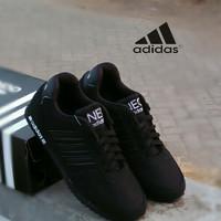 Sepatu ADIDAS V REACHER FULL BLACK/sekolah cewek cowok/olahraga/kuliah