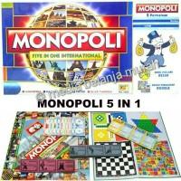 Monopoly International 5in1 Monopoli Internasional 5 in 1