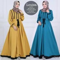 LOUISA DRESS grosir baju murah/gamis busui/BAJU MUSLIM WANITA/shofiya