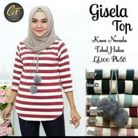 Baju Atasan/Kaos/Tshirt Wanita Salur/Stripe/Garis Belang Bagus Casual