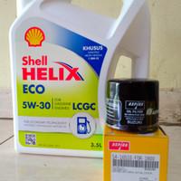 Paket Oli Shell Helix Eco 5W-30 + Filter Oli Suzuki Karimun Wagon R