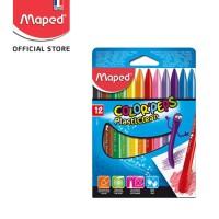 Maped PlastiClean Crayon 12' - Cardboard