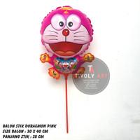 Balon Stik Doraemon Pink / Balon Stik / Balon Karakter