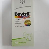 Baytril Flavour Tablet 15 mg - Antibiotik Anjing Kucing