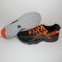 Asics Gel Sonoma 3 Men Trail Running Shoes Black Orange Sepatu Running