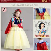 Size kecil Gaun princess snow white dress putri salju baju pesta anak