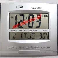 JAM DINDING DIGITAL ESA 3809 - JAM DIGITAL ESA - FITUR LENGKAP