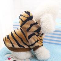 Baju Hoodie Motif Macan Untuk Anjing Dan Kucing