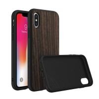 RHINOSHIELD SolidSuit Wood iPhone X Case - Black Oak