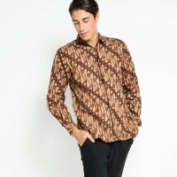 Kemeja Batik Aksen Tropis Parang Gemuk