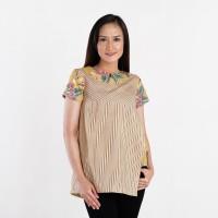 Batik Pria Tampan - Blouse Sunny Sekar Cupu Taru Lurik Comb - Beige, M