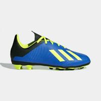 Sepatu bola anak adidas 18.4 fg jr biru hijau