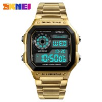 Skmei 1335 Men's Waterproof Square Digital Chronograph Watch