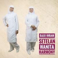 Setelan Baju Ihram Ihrom Wanita Harmony Katun Perlengkapan Haji Umroh