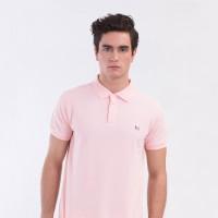 MON AKITA - Francois Men Polo Shirt Pink - Kaos Polo Merah Muda Pria