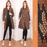 SB Collection Atasan Long Tunik Mia Blouse Kemeja Blazer Batik Wanita