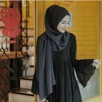 Jilbab pasmina sabyan bahan diamond crepe syari hijab