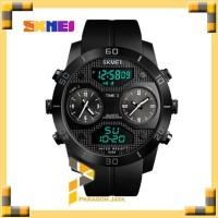 Jam Tangan Pria Dual Time SKMEI 1355 Casio Sport Original - Hitam - Merah