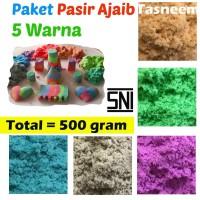 Paket REFILL Pasir Ajaib 5 Warna - 500 Gram Pasir Kinetik - 5W-Cewek