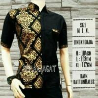 CIQIE SHOP Baju Batik Exclusive Prada Kemeja,Hem Batik Pria Kombinasi