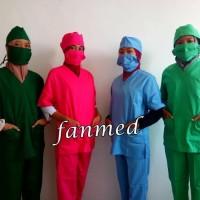Baju Oka OK oka Okk Tindakan Operasi Masker+Penutup Kepala Dua Saudara
