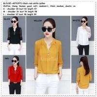 Baju Atasan Kemeja Wanita Import AB732972 Hitam Putih Merah Yellow